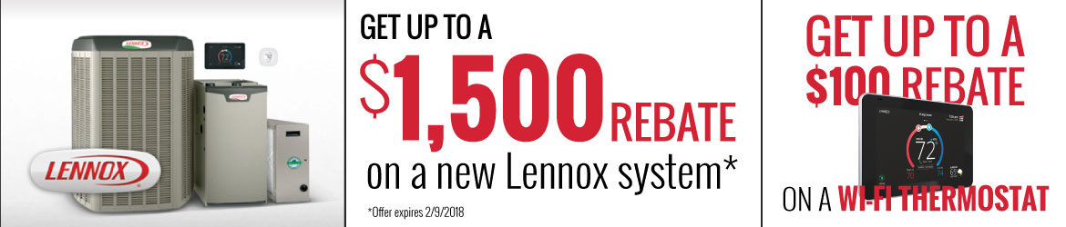 Lennox Specials - Save up to $1500!
